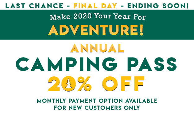 Make 2020 Your Year For Adventure! 20% OFF Thousand Trails Camping Pass