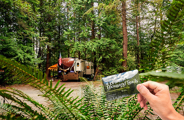 Start Thinking Warm Thoughts! $100 OFF Thousand Trails Camping Pass