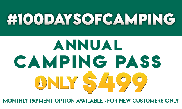 #100DaysofCamping! Annual Camping Pass Only $499