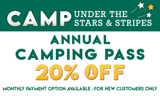 Camp Under the Stars & Stripes! 20% OFF Annual Camping