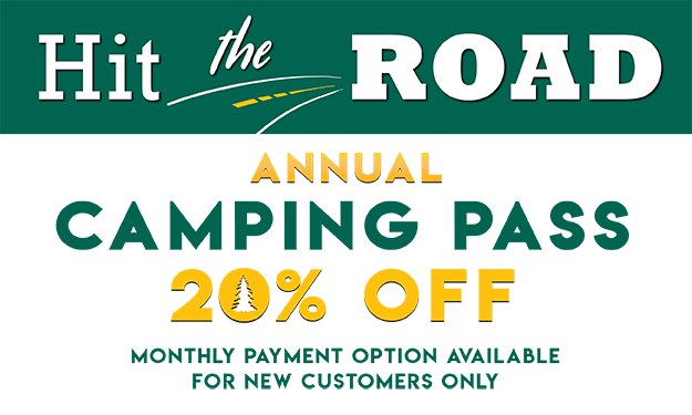 Hit the Road! Annual Camping Pass 20% Off