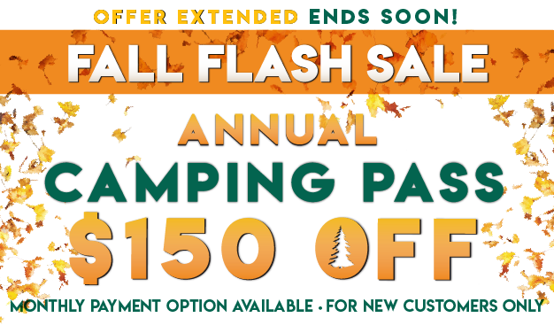 Fall Flash Sale! $150 OFF Thousand Trails Camping Pass