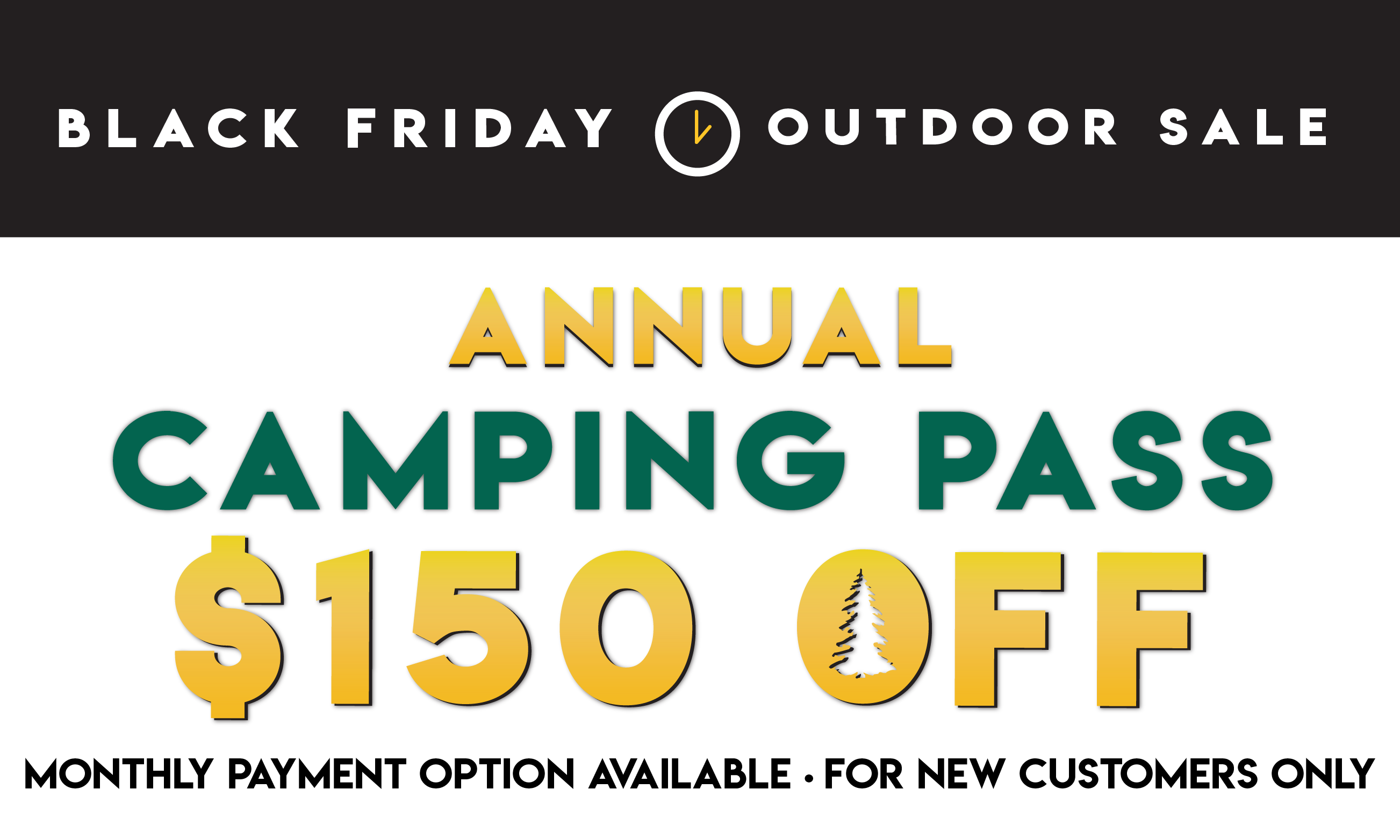 Black Friday Flash Sale! $150 OFF Thousand Trails Camping Pass