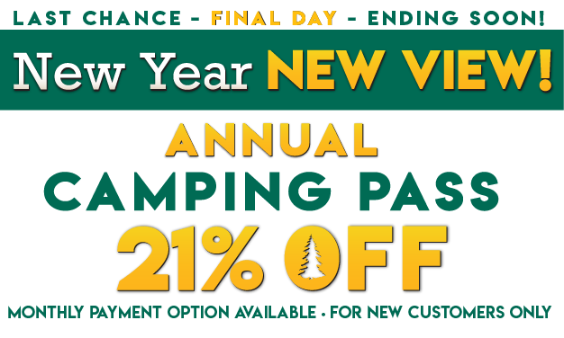 New Year, New View! 21% OFF Thousand Trails Camping Pass